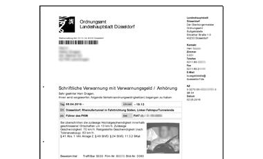 ablauf bugeldverfahren landeshauptstadt dsseldorf - Busgeldbescheid Muster