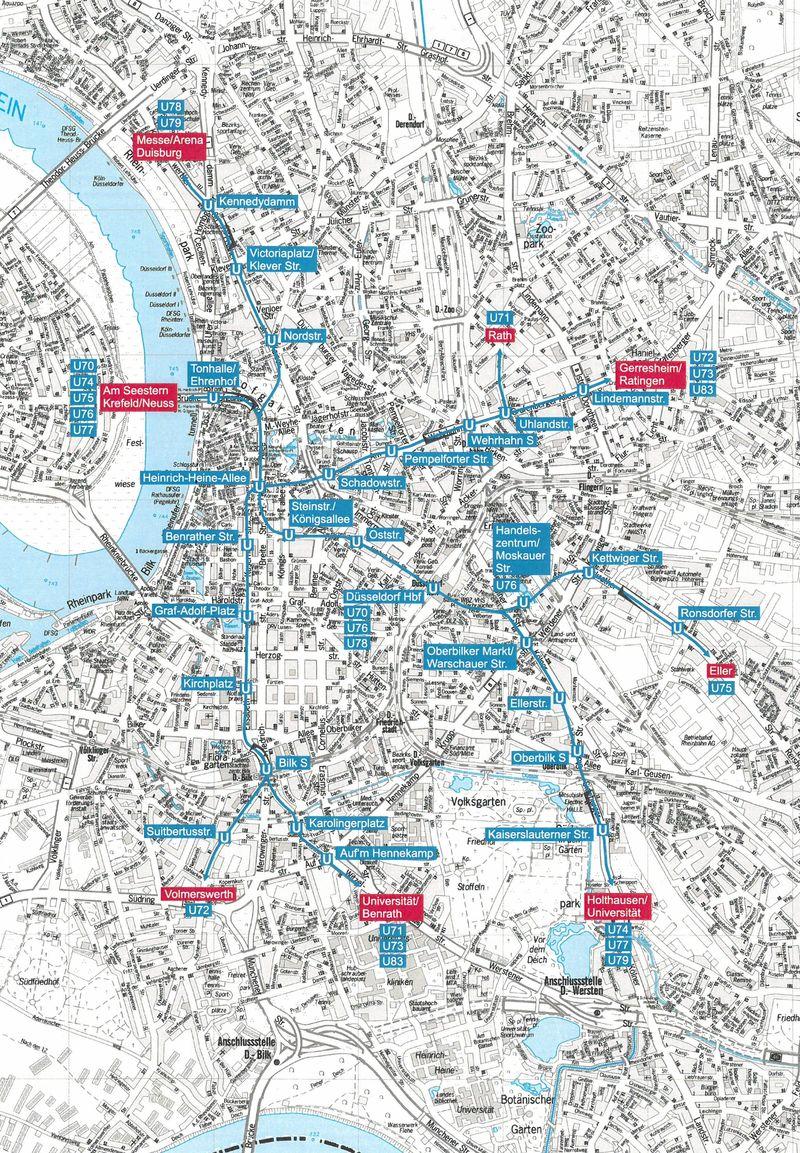 düsseldorf u bahn karte Stadtbahnnetz   Landeshauptstadt Düsseldorf