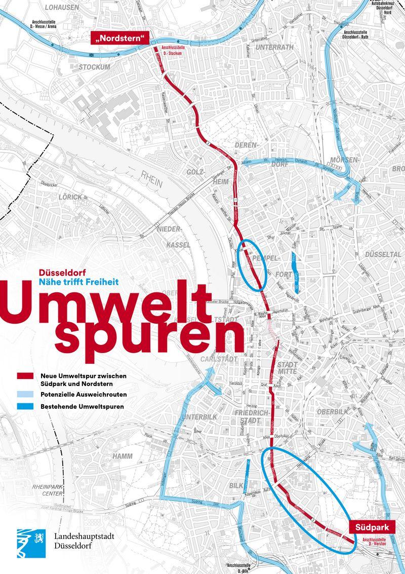 Umweltspuren Landeshauptstadt Dusseldorf