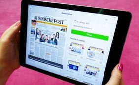 PressReader auf Tablet