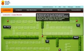 Screenshot eLearning: ich will deutsch lernen
