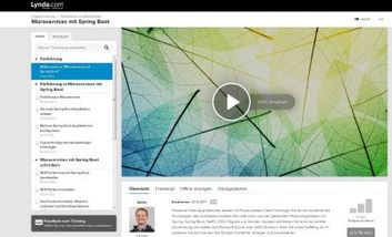Screenshot eLearning: Lynda/video2brain