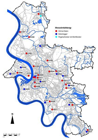 Grundwasserstand Karte Nrw.Aktuelle Grundwasserstände Landeshauptstadt Düsseldorf