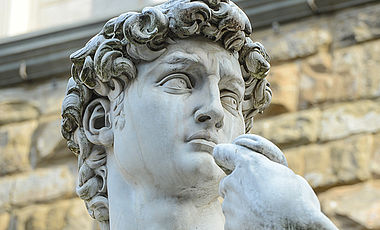 "Bild ""The statue of David by Michelangelo on the Piazza della Signoria  "" - VHS Kunst"