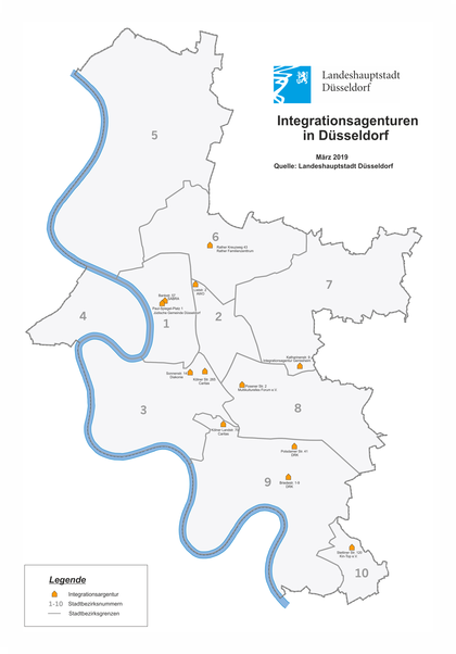 Integrationsagenturen in Düsseldorf 2019