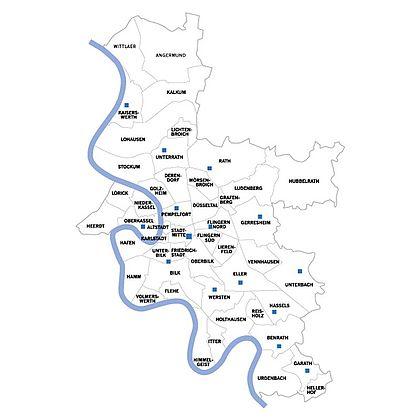 Düsseldorf Stadtteile Karte.Stadtteilbüchereien Landeshauptstadt Düsseldorf