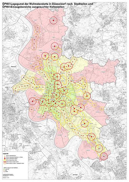 Düsseldorf Stadtteile Karte.Stellplätze Und Garagen Für Wohnnutzung Landeshauptstadt Düsseldorf