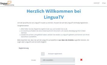 Screenshot eLearning: LinguaTV